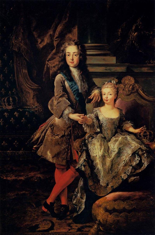 Людовик XV с Мари-Анн-Виктуар д'Эспань Франсуа де Труа, Pitti.jpg