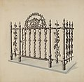 Lucien Verbeke, Cast Iron Gate and Fence, c. 1936, NGA 23839.jpg