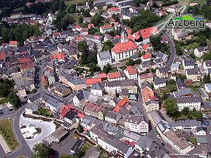 Arzberg, Bavaria - Aerial view Arzberg