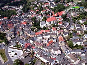 Arzberg, Bavaria - Aerial view