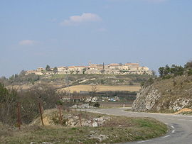 A general view of Lussan