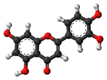 Ball-and-stick model of Luteolin