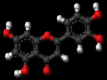 Pilk-kaj-bastona modelo de Luteolin