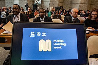 Information and communications technology - Representatives meet for a policy forum on M-Learning at UNESCO's Mobile Learning Week in March 2017