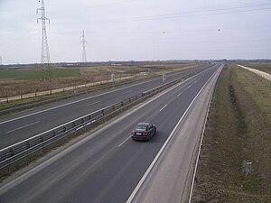 M43 motorway (Hungary) - Image: M43 Kiskundorozsma mellett