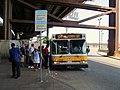MBTA route 104 bus at Sullivan Square station, June 2015.JPG