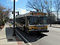 MBTA route 451 bus on Bridge Street, April 2015.JPG