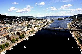 Drammenselva - Image: MG Drammenselven og Union Brygge