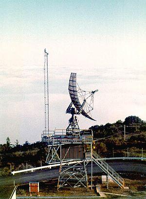 Height finder - Mill Valley AFS height finder radar using Fan-beam antenna(1973)