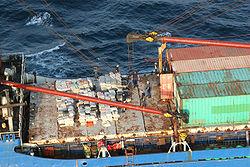 Carguero capturado cerca de la costa de Panamá, mientras intentaba introducir 20 toneladas de cocaína a los Estados Unidos
