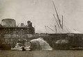 MV Georgic burning, 7 July 1942, Port Tewfik, Egypt.jpg