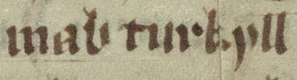 Ragnall mac Torcaill - Image: Mac Torcaill (Oxford Bodleian Library MS Jesus College 111, folio 71v)