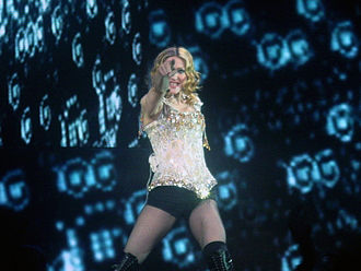 "American Life - Madonna performing promotional single ""Nobody Knows Me"", during the Re-Invention World Tour in 2004"