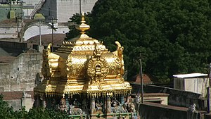 Iconography of Shiva temples in Tamil Nadu - Golden vimana of Madurai Meenakshi Temple