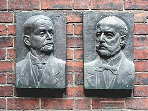 Ludwig Hoffmann (architect) - Portraits of Hoffmann and Ernst Friedel by Evelyn Hartnick at the Märkisches Museum