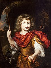 Portrait of a Boy as a Hunter, with a Bow and Arrow and a Dog