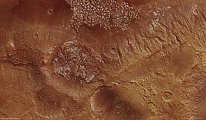 Magelhaens (Martian crater) - Magellan Crater via ESA