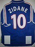 A Zidane football jersey, number 10 for France.