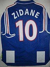 Zidane s France jersey from Euro 2000 2e1dc68a1