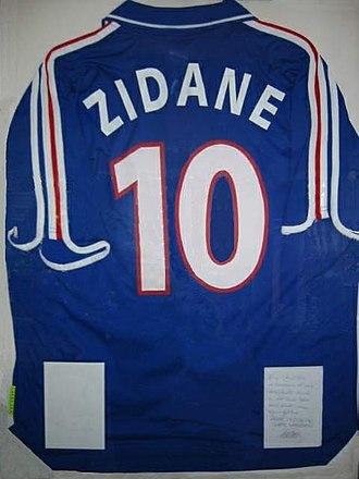 Zinedine Zidane - Zidane's France jersey from Euro 2000