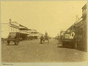 Toowoomba - Main Street of Toowoomba in 1897.