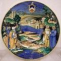 Maiolica di urbino, nicola da urbino, dante e virgilio nel limbo, 1532 ca.jpg