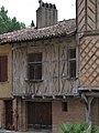 Maison à pans de bois, entre le 3 et le 5 place de Lastic - Rieux-Volvestre.jpg