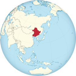満州国の位置