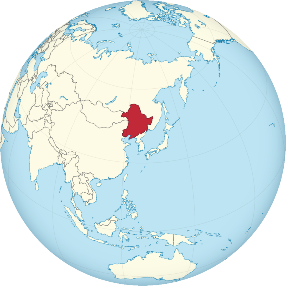 Location of Manchukuo