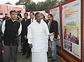 Manish Tewari and the Minister of State for Personnel, Public Grievances & Pensions and Prime Minister's Office, Shri V. Narayanasamy going around the calendar-2013 exhibition, at the release of the official calendar 2013.jpg