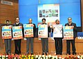 Manish Tewari releasing the official calendar 2014, brought out by the DAVP, in New Delhi on December 31, 2013. The Secretary, Ministry of Information and Broadcasting, Shri Bimal Julka and other dignitaries are also seen.jpg