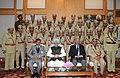 Manmohan Singh, in New Delhi on December 30, 2011. The National Security Advisor, Shri Shivshankar Menon and the Union Home Secretary, Shri R.K. Singh are also seen (2).jpg