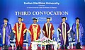 Mansukh L. Mandaviya and the Minister of State for Finance and Shipping, Shri P. Radhakrishnan at the 3rd Convocation of the Indian Maritime University, at Chennai.jpg