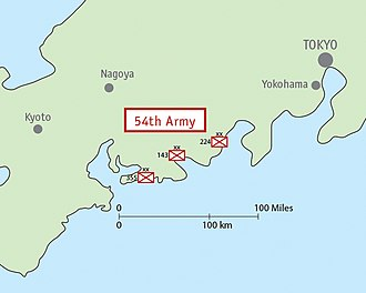 Fifty-Fourth Army (Japan) - Image: Map IJA Army, 54th