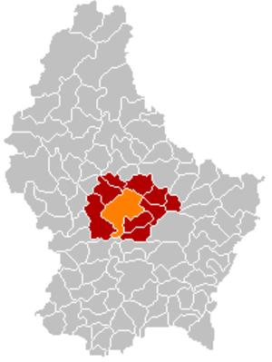 Mersch - Image: Map Mersch