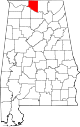 Map of Alabama highlighting Limestone County.svg
