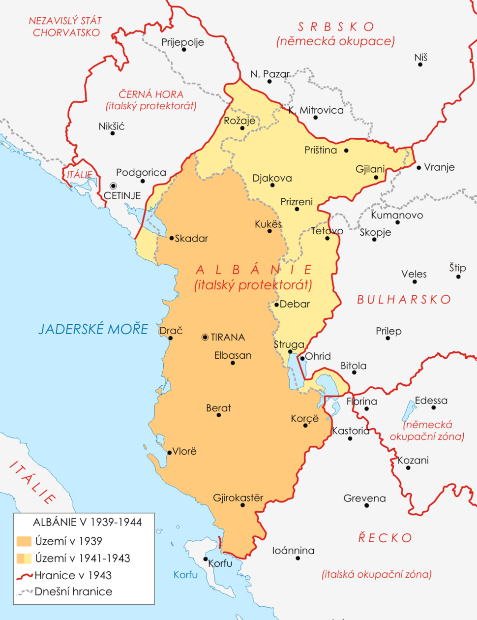 Map of Albania during WWII-CS