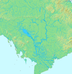Topographical map of Cambodia
