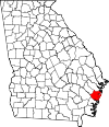 Map of Georgia highlighting McIntosh County.svg