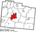 Map of Greene County Ohio Highlighting Xenia City.png