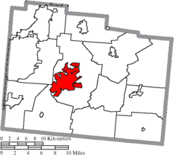 Location of Xenia in Greene County