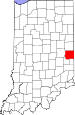Map of Indiana highlighting Wayne County.svg