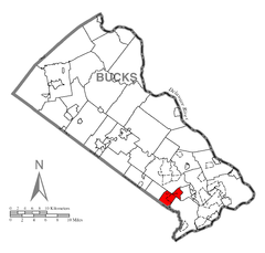 Map of Lower Southampton Township, Bucks County, Pennsylvania Highlighted.png