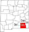 State map highlighting Eddy County