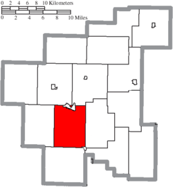 Location of Olive Township in Noble County
