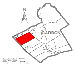 Map of Packer Township, Carbon County, Pennsylvania Highlighted.png