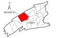 Map of Perry County, Pennsylvania Highlighting Saville Township.PNG