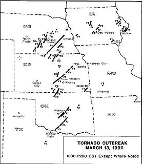 March 1990 Central United States tornado outbreak