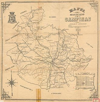 Campinas - Maps of railways in Campinas in 1929