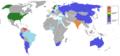 Mapa donde se destaca a los países ganadores del título Miss Mundo.PNG